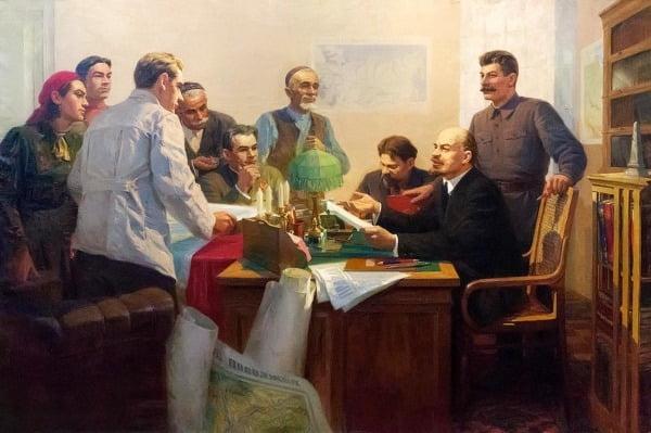 Подписание указа Об образовании Татарской АССР