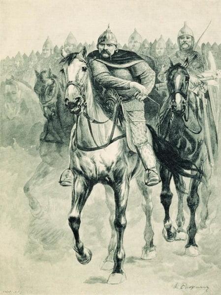 Русские воины, изображенные Андреем Рябушкиным, 1895 год