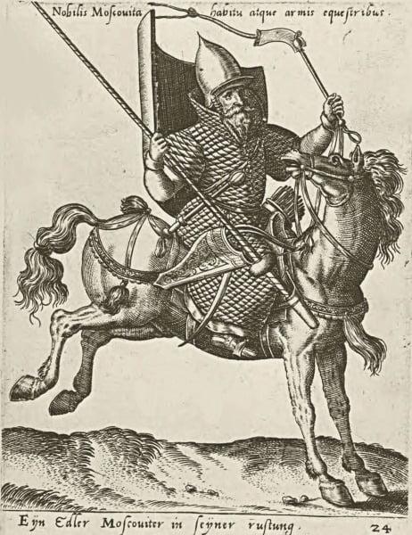 """""""Благородный Москвич"""", гравюра Абрахама де Брюйна (1539-1587)"""
