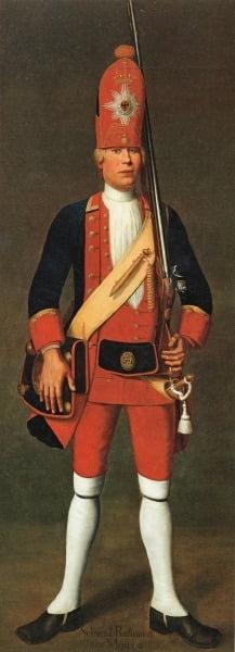 Портрет Свирида Родионова из Москвы одного из представителя Потсдамских гигантов работы Иоганна Кристофа Мерка