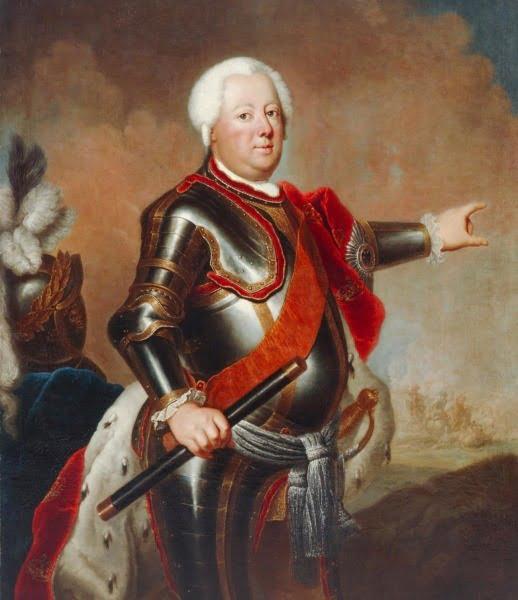Портрет Фридриха Вильгельма I Пруссии Антуан Пэн (1683-1757) Антуан Песне/Немецкий Исторический Музей