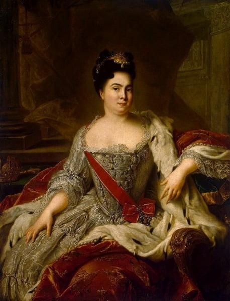 Портрет императрицы Екатерины I. 1717 год. Натье, Жан-Марк (1685-1766).